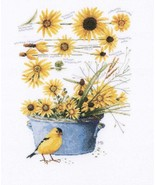 Counted Cross Stitch Embroidery Kit Little Bird Helianthus - $56.43