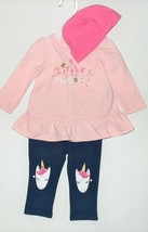 Little Wonders Infant Girls 3pc Outfit Hat Long Sleeve Shirt Pants 6-9M NWT - $10.18
