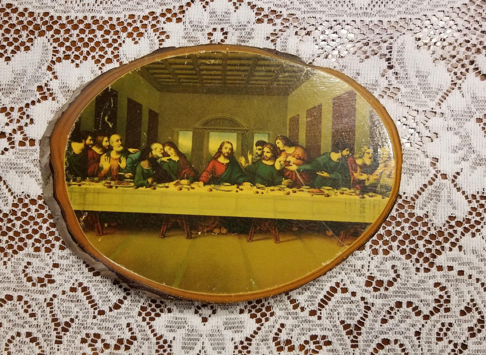 Vintage Jesus Last Supper on Cedar Wood Wall and 50 similar items