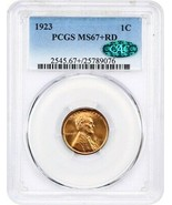 1923 1c PCGS/CAC MS67+ RD - Registry Quality - Lincoln Cent - Registry Q... - $5,092.50