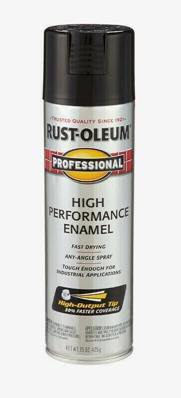 Primary image for RUST-OLEUM Professional GLOSS BLACK 15 oz Spray High Performance Enamel 7579-838