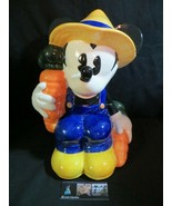 Mickey Mouse cookie jar Treasure Craft Farmer Carrots vintage rare colle... - $146.29
