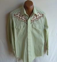CHAMPION WESTERNS - Men's VINTAGE Celery Green L/S Western Shirt - SIZE ... - $24.95