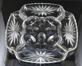 Early American Prescut, Deviled Egg - Relish Plate made by Anchor Hocking - $25.00