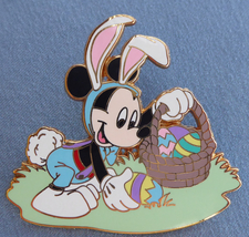 Mickey Mouse in Bunny Ears Gathering Easter Eggs Pin 37469 Disney Pin - $19.00