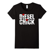 Diesel Women's Cute Diesel Truck Chick Heart T-Shirt, All Sizes Women - $19.95+