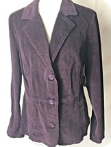 St Johns Bay Purple Fall Jacket Women Size Large NEW with Tag MSRP $44 - €11,59 EUR