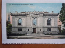 Vintage 221. Public Library Grand Rapids Michigan Notecard Unused - $1.99