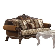 46 X 37 X 89 Upholstery and Wood Leg/Trim Sofa w/6 Pillows, Fabric & Che... - $1,701.70