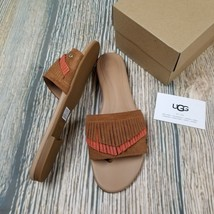 New UGG AUSTRALIA sz 8 womens brown suede binx fringe thong sandal - ₹2,483.73 INR