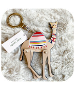 KATE SPADE NEW YORK SPICE THINGS UP CAMEL LEATHER CHARM KEY FOB IN MULTI - $38.49