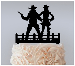 Wedding,Cake topper,Cupcake topper,Cowboy Bride and Groom Package : 11 pcs - $20.00