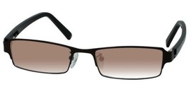EBE Sunglasses Reader Mens Womens Brown Rectangular Spring Hinge Stainless Steel - $49.49+