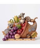 Jim Shore HWC Harvest of Blessings Cornucopia with Friends Figurine 4053... - $64.99