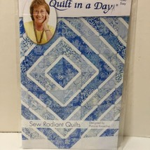 "Sew Radiant Quilt Pattern 36"" x 54"" Quilt in a Day - $11.64"