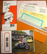 1968 Harley Davidson Electra Glide Rider Handbook Owner's Manual KIT, 7 items - $139.14