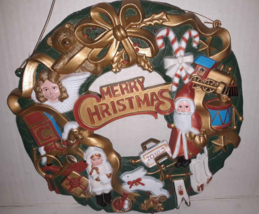 """Vintage Plastic Small Christmas Wreath 10.5"""" OR Large Ornament Holiday Vtg - $5.73"""