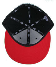 Dissizit California Skating Bear Black Red New Era 59FIFTY Fitted Baseball Hat image 7