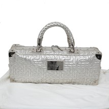 Auth GIANNI VERSACE COUTURE Via Gesu Quilted Leather Doctor Bag Silverto... - $1,290.09