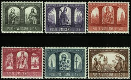 Catholic Poland Set of 6 Vatican City Postage Stamps Catalog Number 433-38 MNH