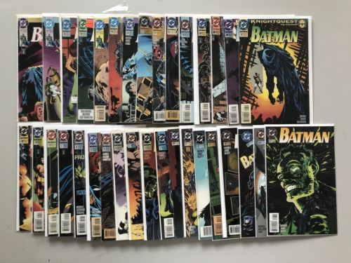 Lot of 34 Batman (1940) #493-527 Missing 515 VF-NM Near Mint