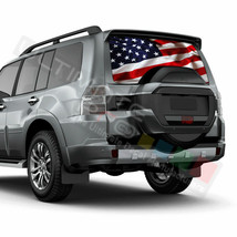 Flags Designs Rear Window See Thru Stickers Perforated for Mitsubishi Pa... - $59.80