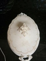 Antique Johnson Brothers Oval Dish with Lid Pat April 16th 1902 White wi... - $21.78