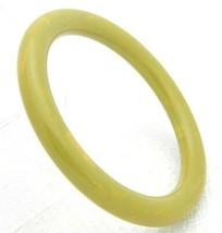 VTG Green Yellow Marbled End of Days BAKELITE TESTED Bangle Bracelet - B - $123.75