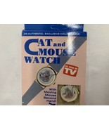 Vintage Cat & Mouse Mystery Dial Quartz Wrist Watch  NOS 1980s New In Box - $37.99