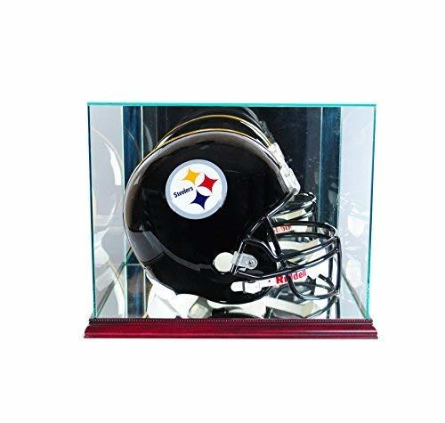 Max Protection Perfect Cases UV Glass Football Helmet Display Case with Mirror