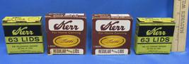 Vintage  Kerr Canning Lids Original Boxes Mason Lid # 63 Lot of 4 Partia... - $10.88