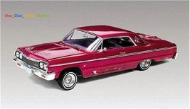 Scale 1/25 Model Car Truck Kit 1964 Chevy Impala Hardtop Lowrider New - $58.58