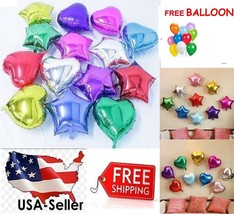 "10""/18"" Star / Heart Foil Balloon Birthday Baby Shower Bride Party FREE ... - €0,85 EUR+"