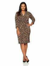 Anne Klein Women'S Plus Size Animal Print Wrap Dress - $36.45+