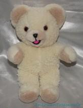 "Vintage 1980s Russ Lever Bros Plush 11"" Soft Fleecy Cream Snuggle Bear M... - $23.14"
