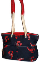 VTG Vintage Tommy Hilfiger Navy Blue Lobster Nautical Handbag Purse Beac... - ₨5,614.72 INR