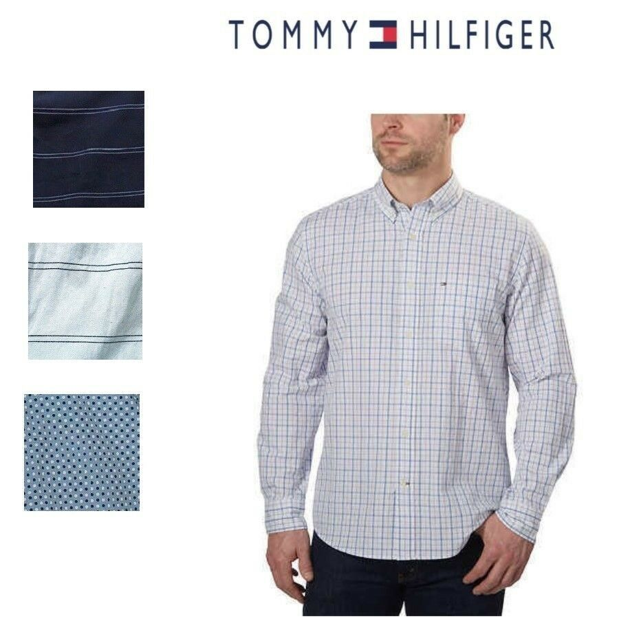 Tommy Hilfiger Classic Fit Long Sleeve Woven Shirt - $20.99