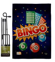 Bingo Burlap - Impressions Decorative Metal Garden Pole Flag Set GS19212... - $33.97