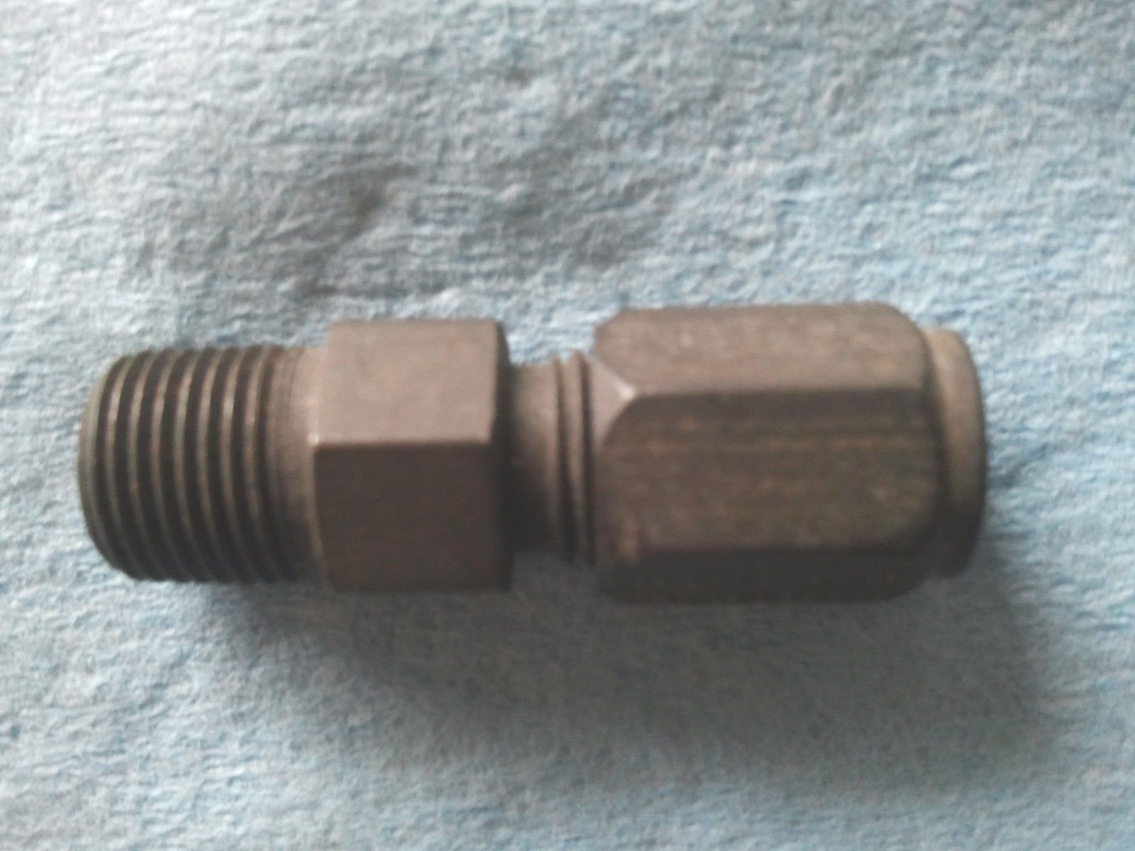 "Primary image for Parker Hannifin, 1/8"" MP  x  3/16"" Tube Fitting"