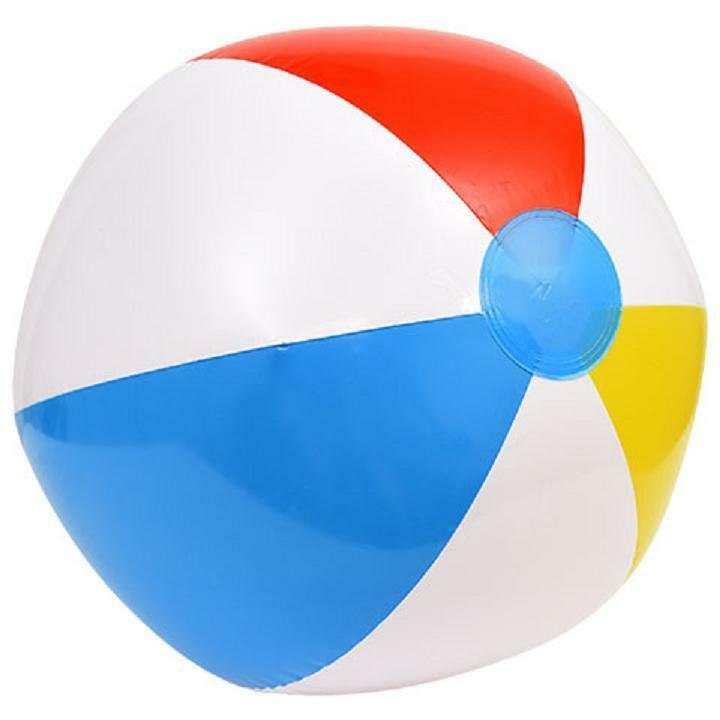 Party Beach Ball Summer Pool Ocean Toys Inflatable 20 Inch Red White Yellow Blue