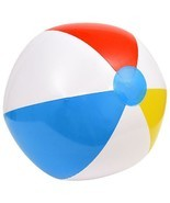 Party Beach Ball Summer Pool Ocean Toys Inflatable 20 Inch Red White Yel... - $2.96