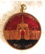 Vintage 1984 Olympics Pendant Medallion Los Angeles Memorial Coliseum - $18.00