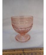 """Pink Depression Stemmed Sherbet Glasses 3 1/2"""" - $9.85"""