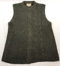 Woolrich Womens' Sweater Vest Dark Loden Cable Knit  Full Zip Green Size... - $455,19 MXN