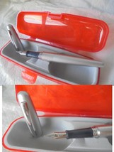 Pilot Metropolitan Dot Penna Stilografica In Acciaio Steel Fountain Pen Original - $26.82