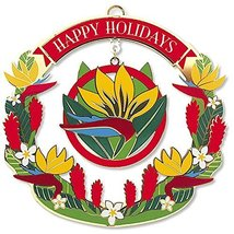 Island Heritage Metal Christmas Ornament Bird of Paradise - $16.82