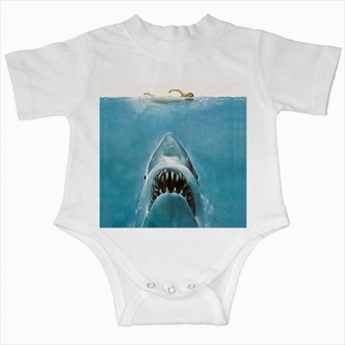 Primary image for Jaws shark infants baby creeper bodysuit romper onepiece newborn jumpsuit