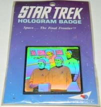 Classic Star Trek TV Series Spock on Bridge Hologram Pin Badge 1992 NEW ... - $9.74