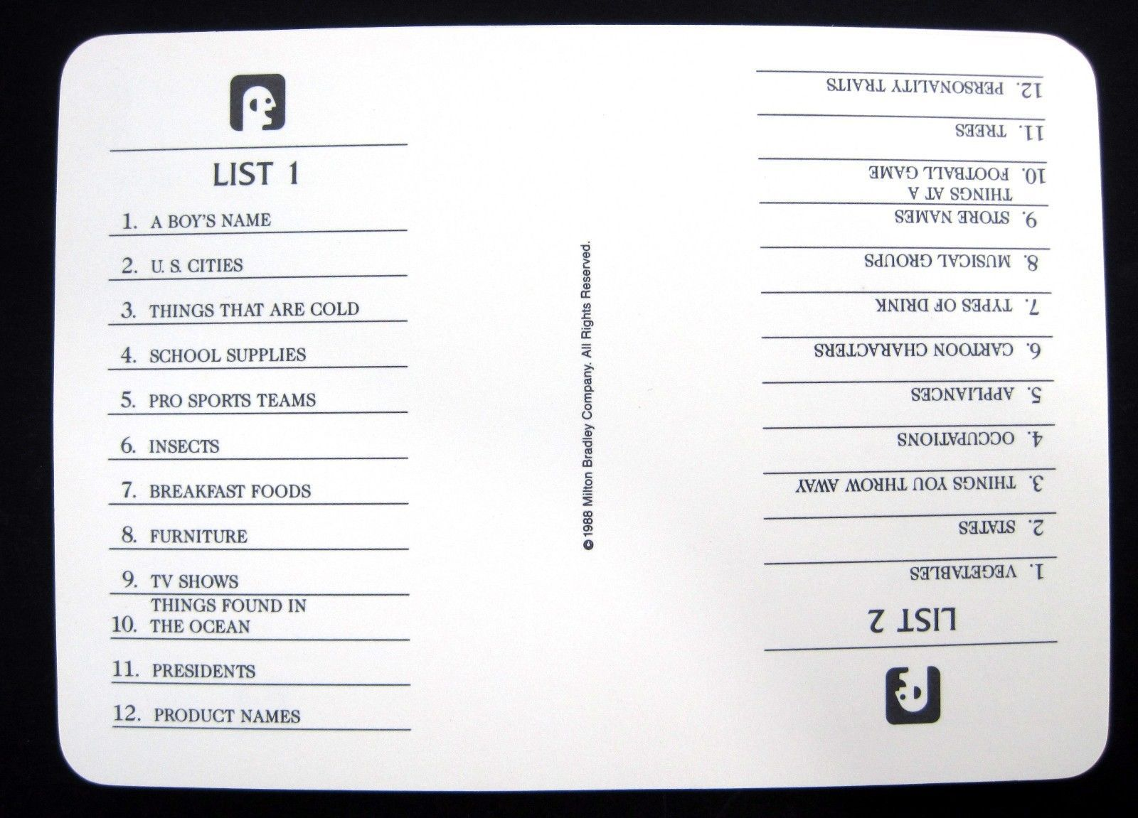 photograph about Scattergories Lists 1-12 Printable identified as 100+ Real Scattergories Classes yasminroohi