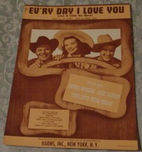 Vintage Sheet Music - Ev'ry Day I Love You (Just A Little Bit More) 1948... - $5.93